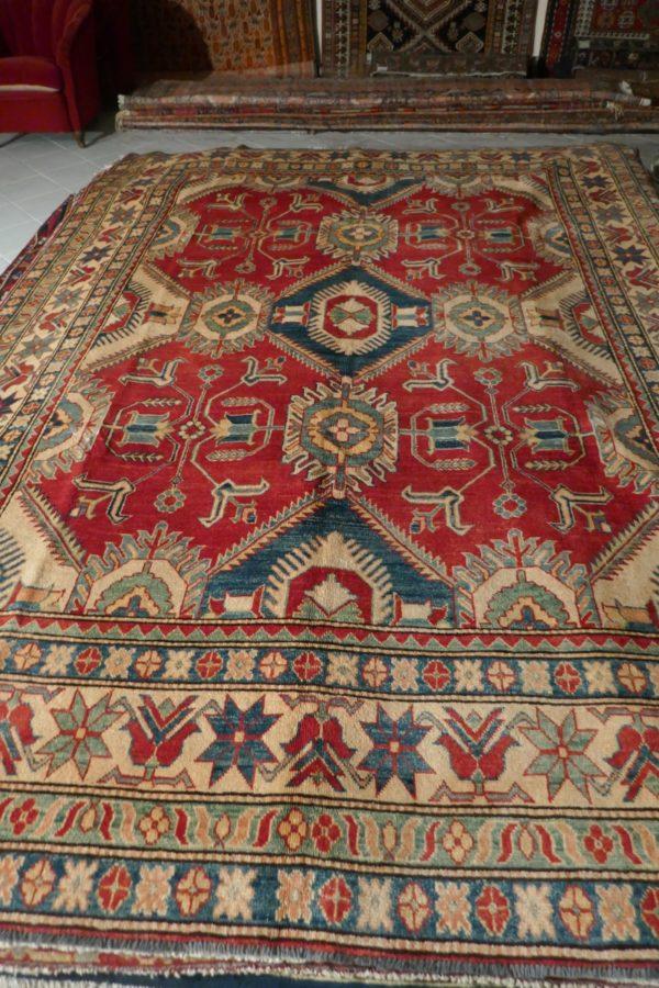 tappeto kazak grande geometrico