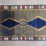 tappeto Gabbeh Gashghai con losanghe blu