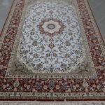 tappeto isfahan fondo seta