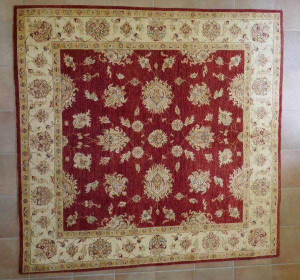 tappeto Ziegler quadrato rosso