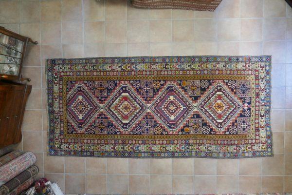 tappeto Shirvan Antico Caucaso a losanghe