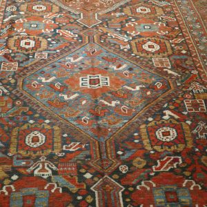 antico tappeto gashgai Khamseh kelley