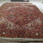 tappeto Heriz Antico rosso avorio grande
