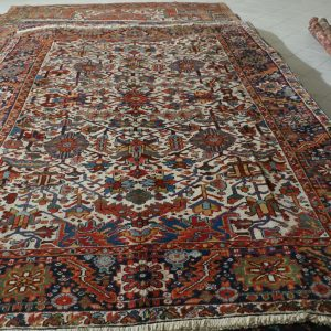 tappeto Heriz Antico da salotto fondo avorio