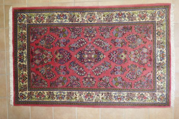tappeto persiano Saruk rosa