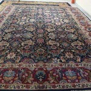 tappeto antico Tabriz senza il medaglione blu