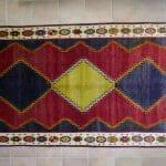 Gabbeh Gashgai rosso,giallo,blu
