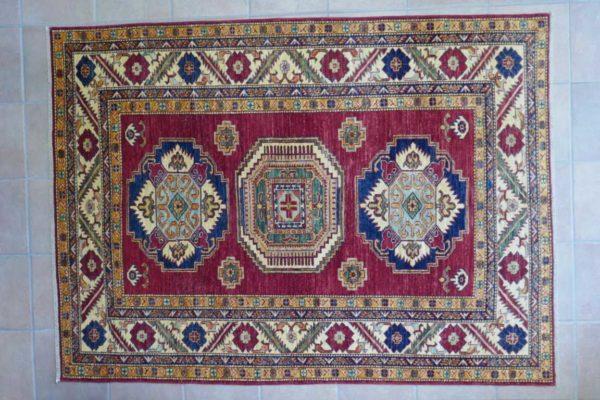 Tappeto uzbek kazak rosso da salotto
