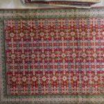 tappeto Azarbaijan Disegno Perepedil grande color rosso