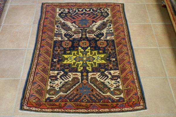 Antico tappeto Caucasico Zeikhur 128x101