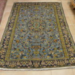 tappeto persiano Kum celeste