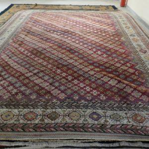 tappeto antico afshari grande senza il medaglione