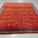 tappeto Gabbeh rosso poco disegno