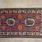 tappeto bakhtiari gol farang con due madaglioni a fiori