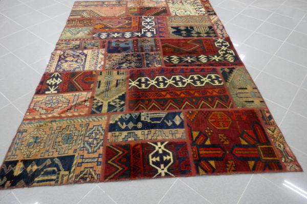 tappeto persiano patchwork
