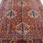 Tappeto persiano bakhtiari a formelle