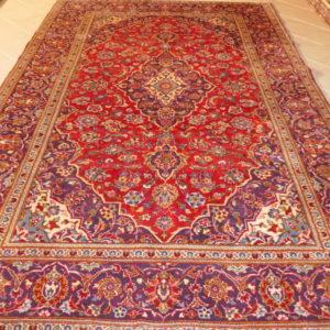 Tappeto keshan persiano rosso classico