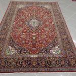 tappeto keshan persiano classico rosso