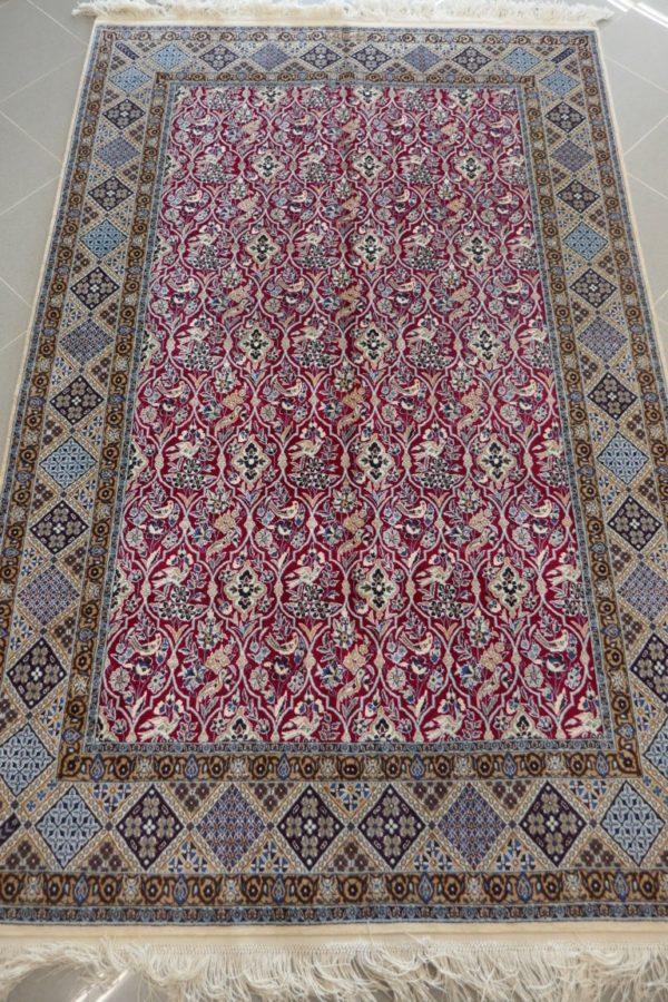tappeto Nain rosso molto fine