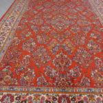 tappeto saruk a fiori color salmone