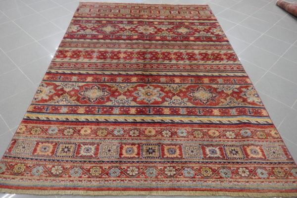 tappeto ziegler geometrico rosso