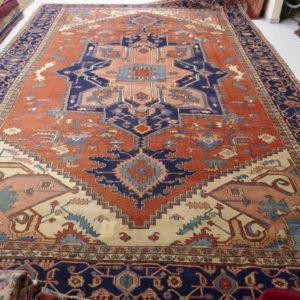 Importante tappeto Serapi grande