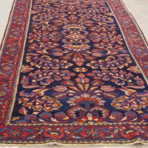 tappeto blu a fiori
