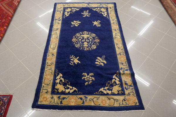 tappeto cinese blu