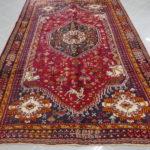 tappeto gashgai stilizzato rosso blu