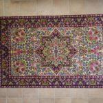 tappeto kirman a fiori da salotto