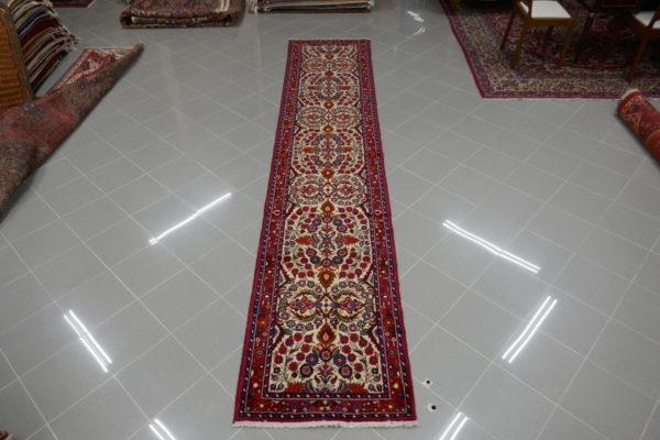 tappeto passatoia hamadan fondo avorio lunga 4 metri