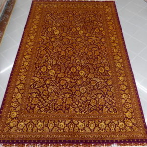 tappeto tabriz 60 raj color oro e bordeaux