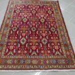 tappeto gashgai kashkuli motivo herati su fondo rosso