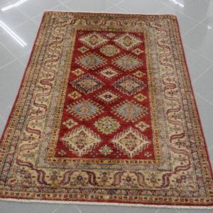 tappeto piccolo uzbek rosso
