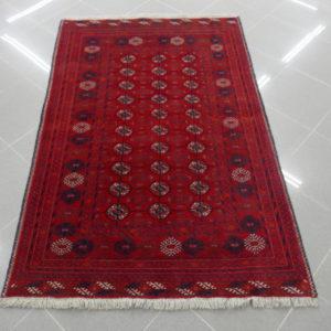 tappeto bukhara afghano rosso