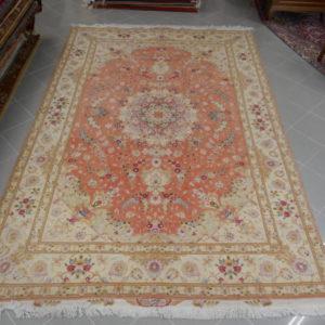 tappeto tabriz 60raj colori delicati da sala