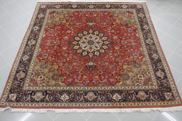 tappeto tabriz 60raj rosso quadrato