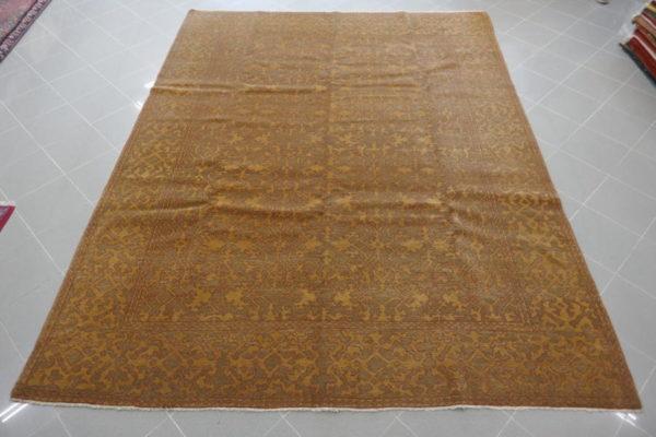 tappeto armeno moderno vintage color oro verde muschio