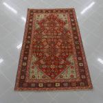 tappeto antico karabagh arancio bruciato