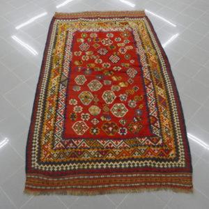 antico kilim gasgai giallo e rosso