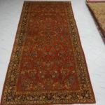 tappeto saruk americano rosso arancio a fiori