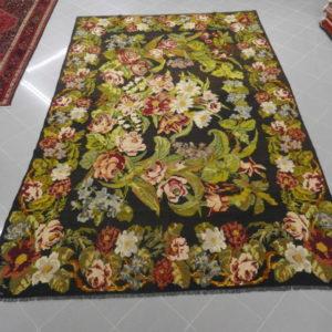 kilim a mazzo di fiori disegno aubusson