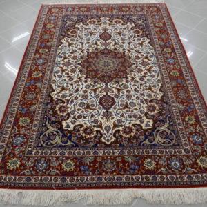 tappeto isfahan da salotto fondo avorio