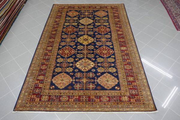 tappeto soggiorno kazak blu