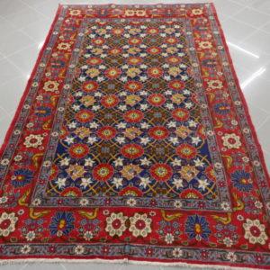 tappeto veramin senza medaglione blu e rosso da salotto